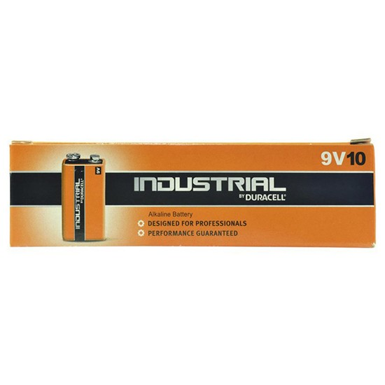 Pila Alcalina 9V E-Block Duracell Industrial ID1604B10 Pack 10