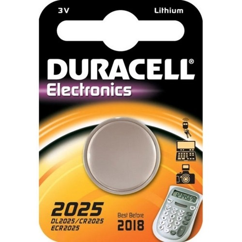 CR2025 3V Pila de Boton de Litio Duracell DL2025
