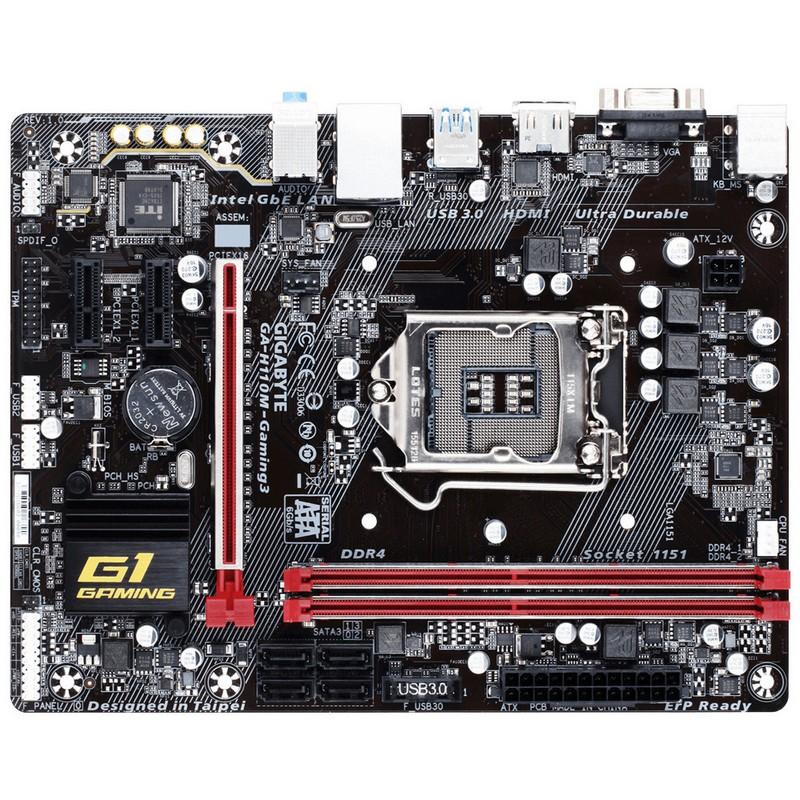 Placa Base Gigabyte H110M-Gaming 3 mATX LGA1151
