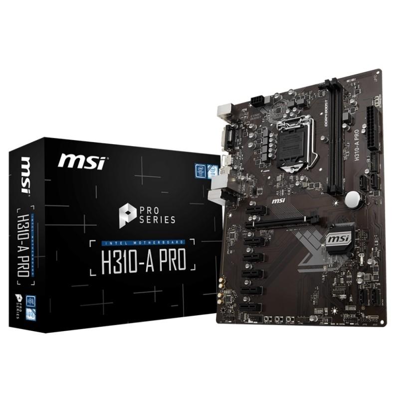 Placa base msi h310-a pro atx lga1151(300)