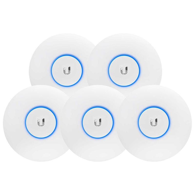 5 Puntos de Acceso Inalámbricos Ubiquiti UniFi UAP-AC-LR-5 Dual Band PoE
