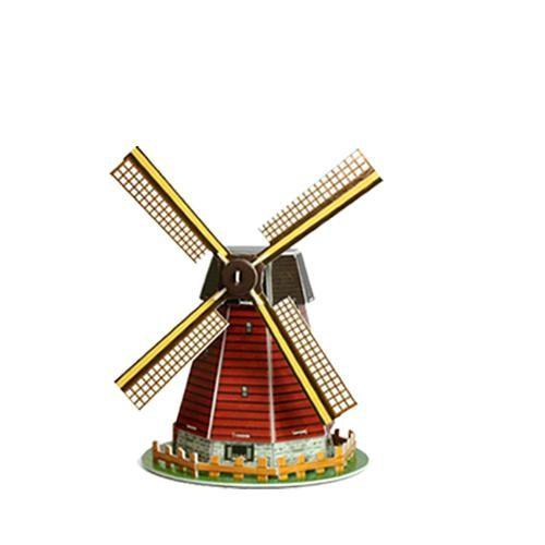 Puzzle Kit 3D Molino de Viento Holandes (45 piezas)