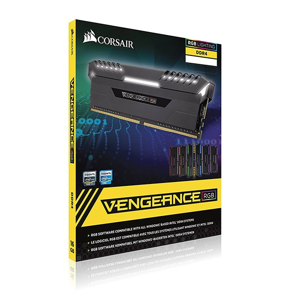 Kit Memoria Corsair Vengeance RGB 16GB DDR4 3200MHz (2x8GB)