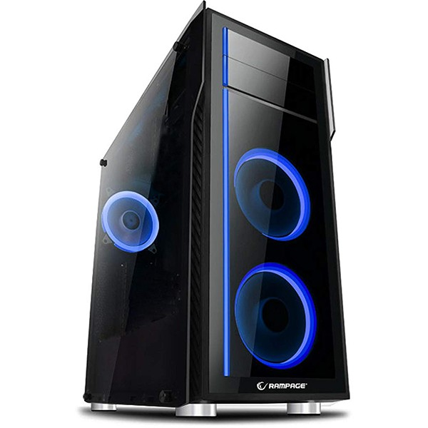 Caja PC ATX Rampage THUNDER PRO Cristal Templado