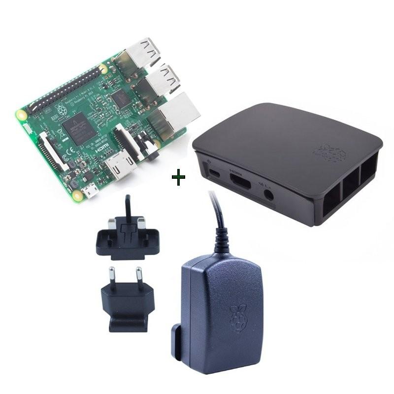Kit Raspberry Pi 3 + Caja Negra + Fuente 5.1V