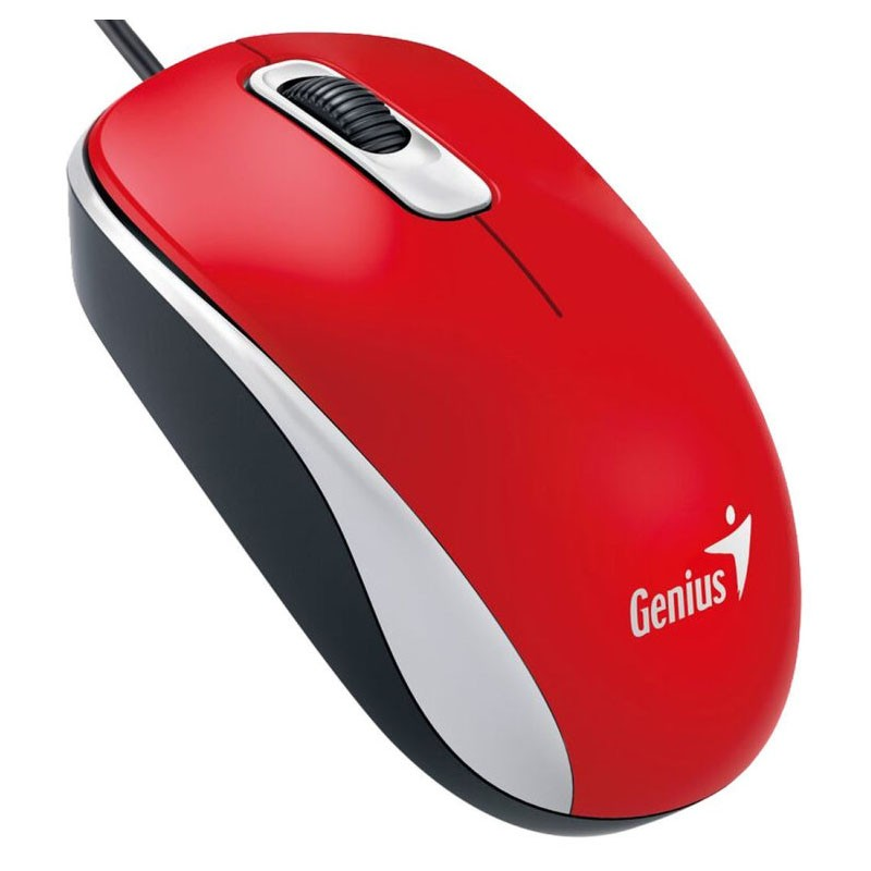 Ratón Optico USB Genius DX-110 Rojo