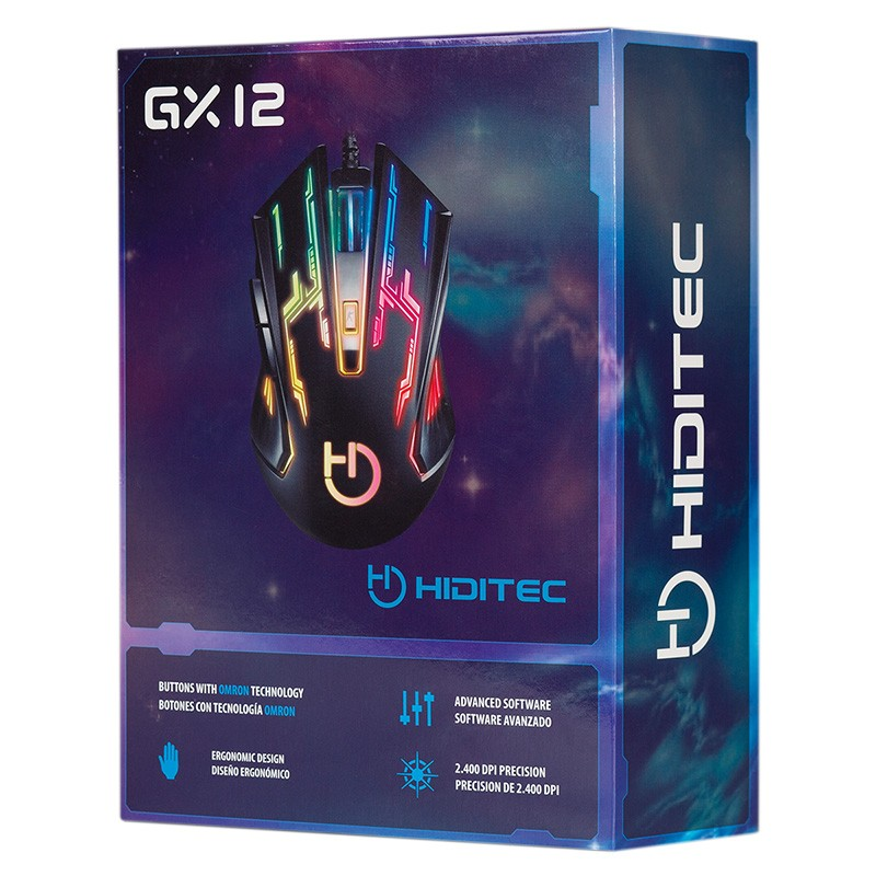 Ratón Gaming Hiditec GX12 Retroiluminado 2400dpi