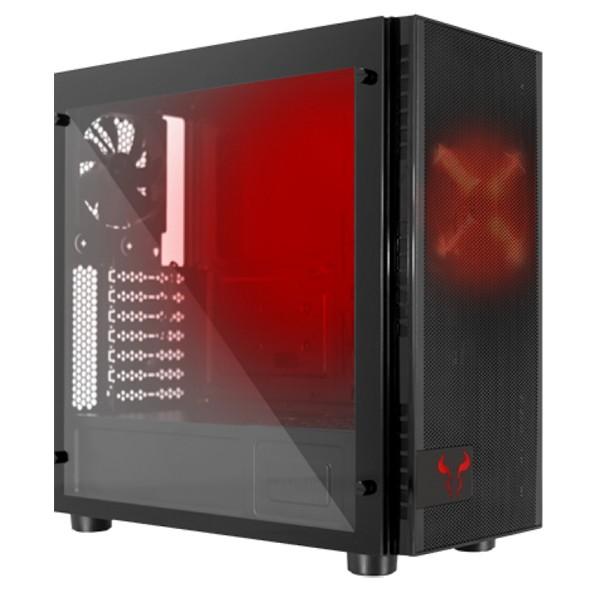 Caja PC ATX Riotoro CR500 Cristal Templado y Acero