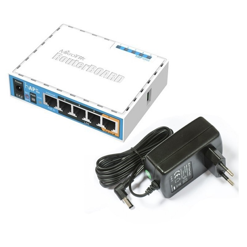 Router Inalámbrico Mikrotik RB952Ui-5ac2nD hAP ac lite 2.4GHz y 5GHz