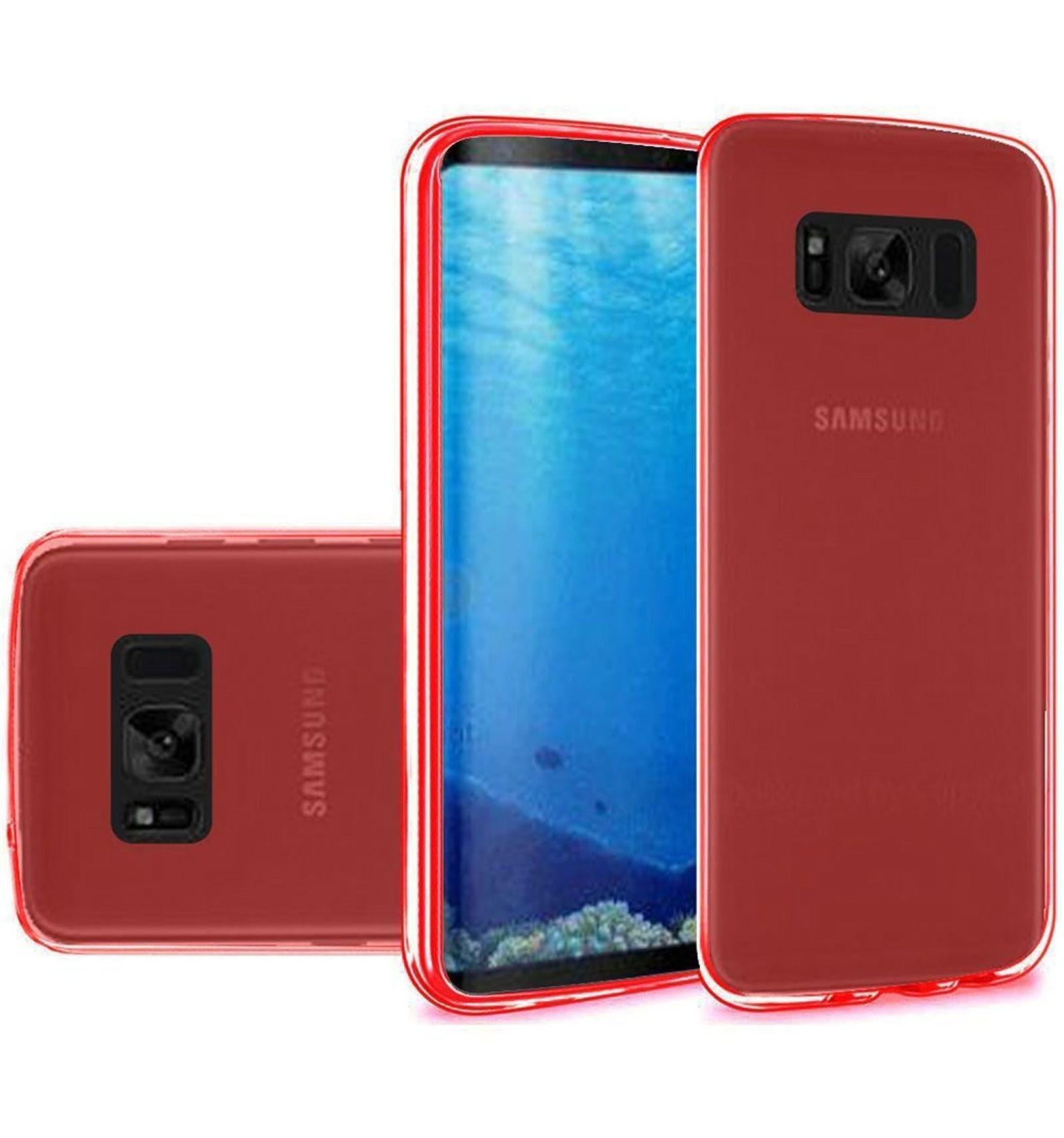 Samsung Galaxy S8+ Funda Silicona Rojo