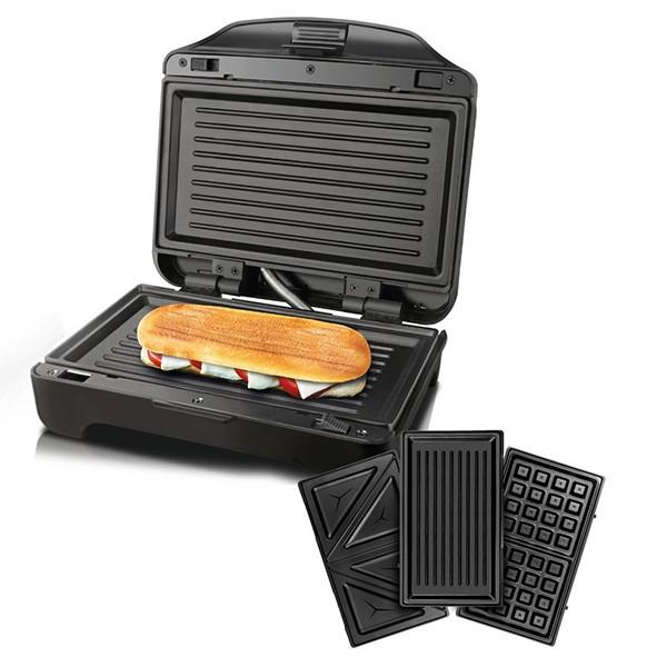 Sandwichera con placas intercambiables Miami Premium 900W