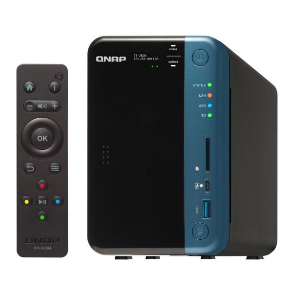 Servidor NAS QNAP TS-253B-4G Celeron J3455 4GB 2 Bahías