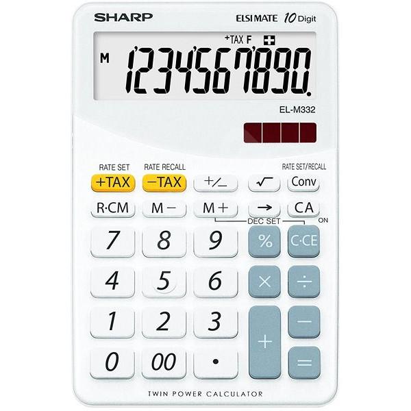Calculadora de Sobremesa Sharp SH-ELM332BWH - 10 Dígitos Blanco
