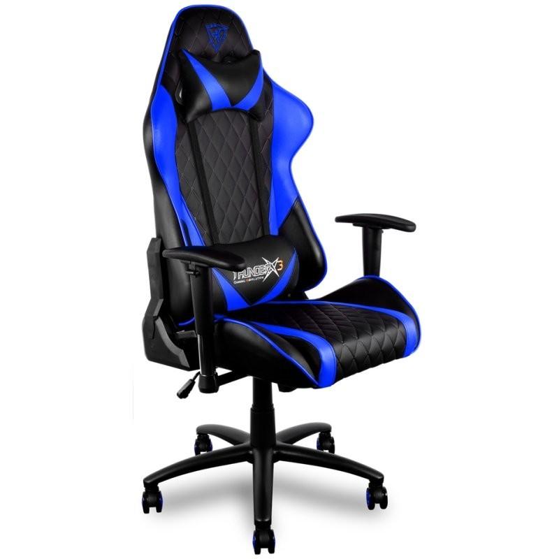 Silla Gaming THUNDERX3 TGC15BB Negra/Azul