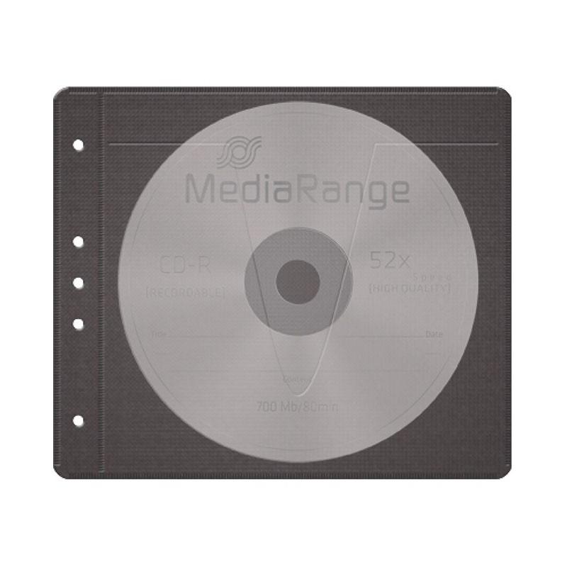 Sobres tejido sintetico CD/DVD (2 discos) MediaRange Pack 50