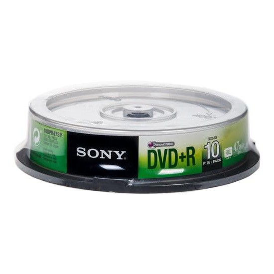 DVD+R 16x Sony 4.7GB Tarrina de 10 Uds.