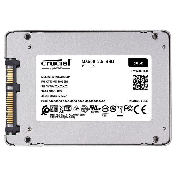 SSD 500GB Crucial MX500 CT500MX500SSD1 2.5 Sata3