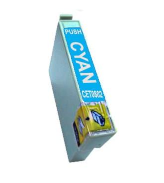 T0802 Cartucho de Tinta Compatible Premium (Cyan)