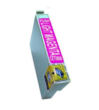 T0806 Cartucho de Tinta Compatible Premium (Magenta Claro)