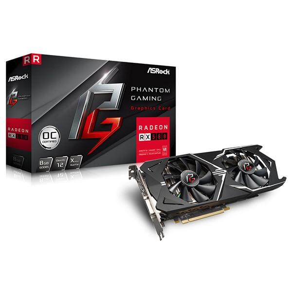 Tarjeta Gráfica ASRock Phantom Gaming X Radeon RX580 8G OC 8GB GDDR5