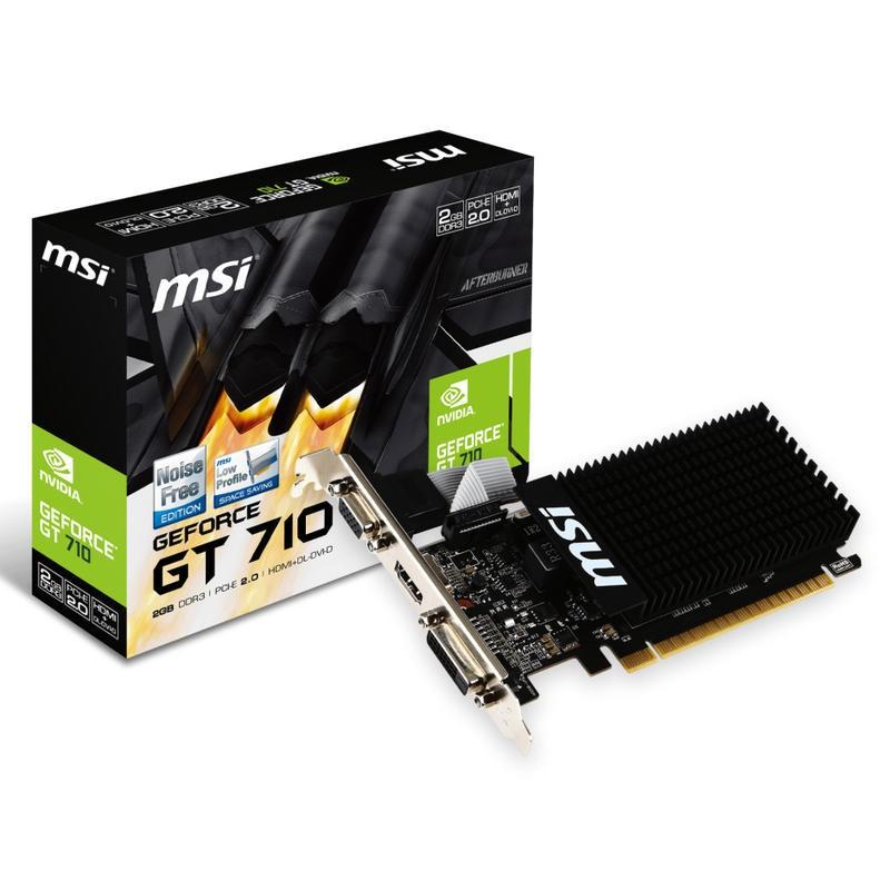Tarjeta Gráfica MSI GT 710 2GD3H LP 2GB GDDR3