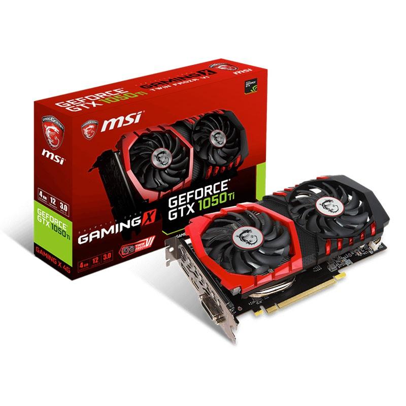 Tarjeta Gráfica MSI GeForce GTX 1050Ti GAMING X 4GB GDDR5
