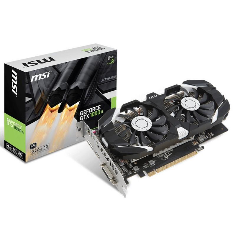 Tarjeta Gráfica MSI NVIDIA GTX 1050Ti 4GT OC 4GB GDDR5