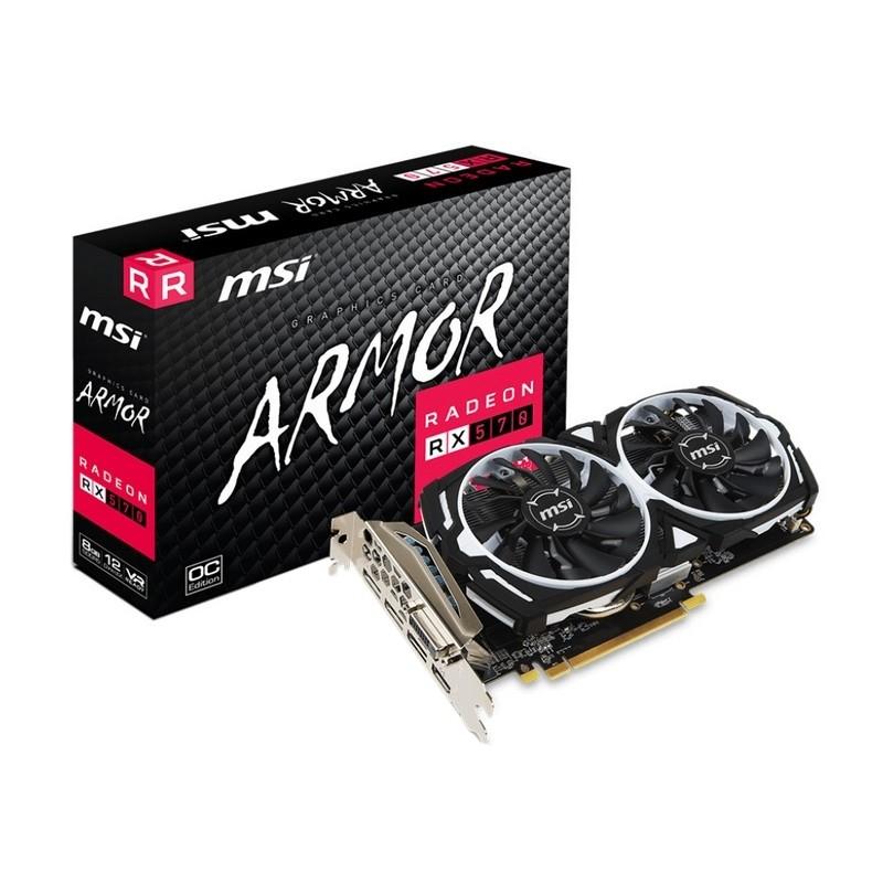 Tarjeta Gráfica MSI AMD RX 570 ARMOR OC 8GB GDDR5