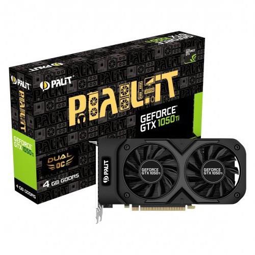 Tarjeta Gráfica Palit GeForce GTX 1050 Ti Dual OC 4GB GDDR5
