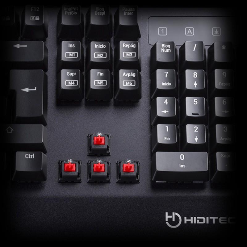 Teclado Mecánico Hiditec GK500 Cherry MX Red