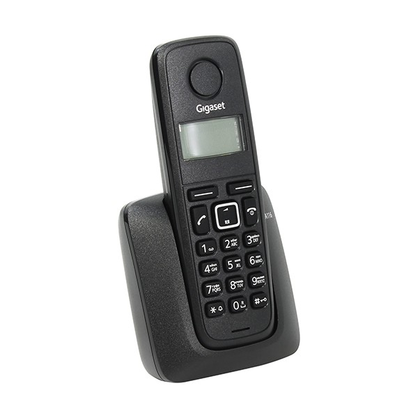 Teléfono inalámbrico Siemens Gigaset A116 Negro