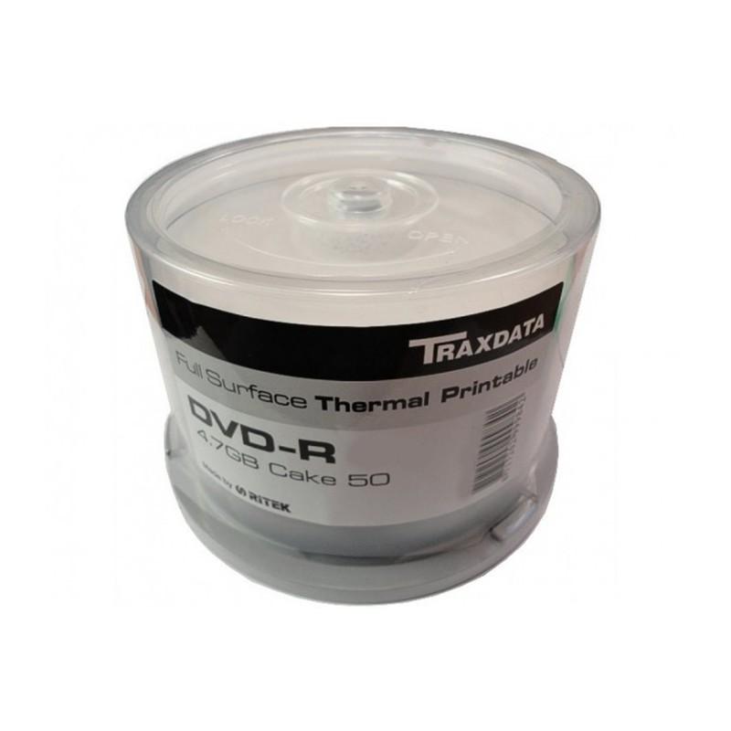DVD-R 16x Ritek Thermal Printable Silver Tarrina 50 Uds