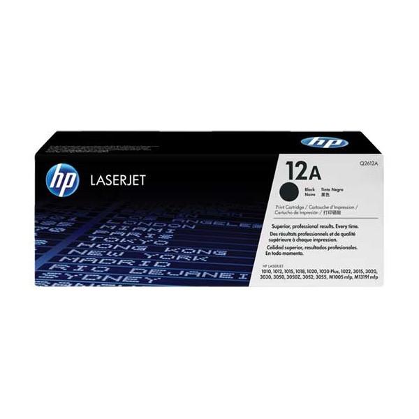 HP 12A (Q2612A) Toner Original Negro