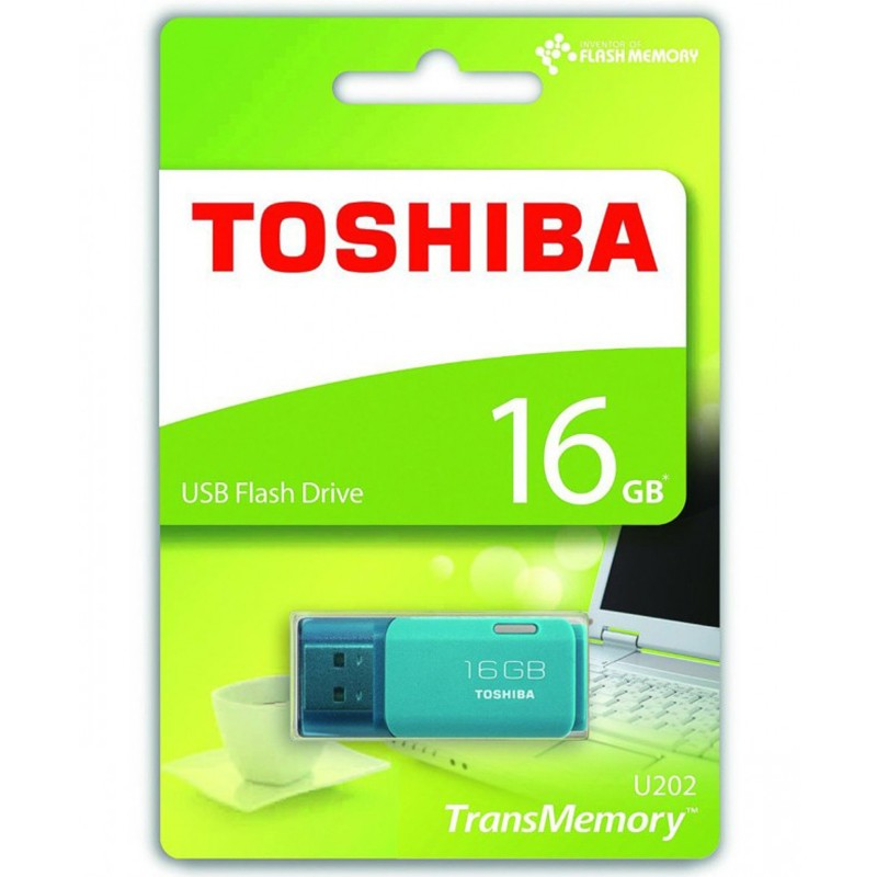 Pendrive 16GB Toshiba Hayabusa Azul Aqua