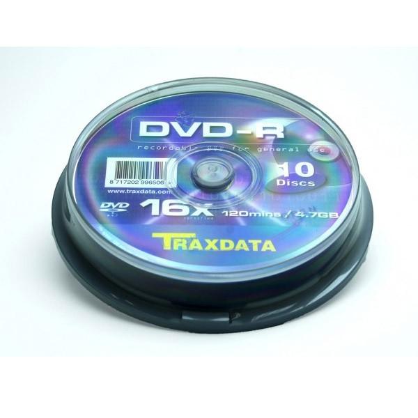 DVD-R 16X Traxdata Tarrina 10 uds