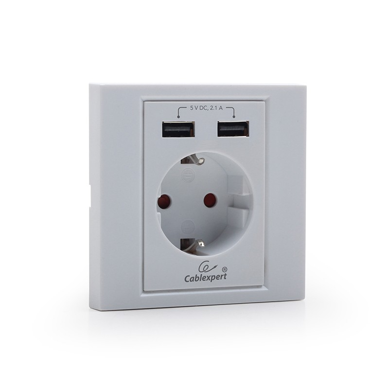 Enchufe de Pared con USB Gembird MWS-ACUSB2-01