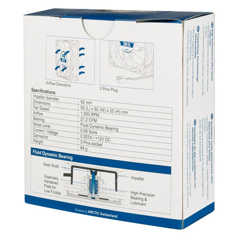 Ventilador PC Arctic F9 Silent 90mm