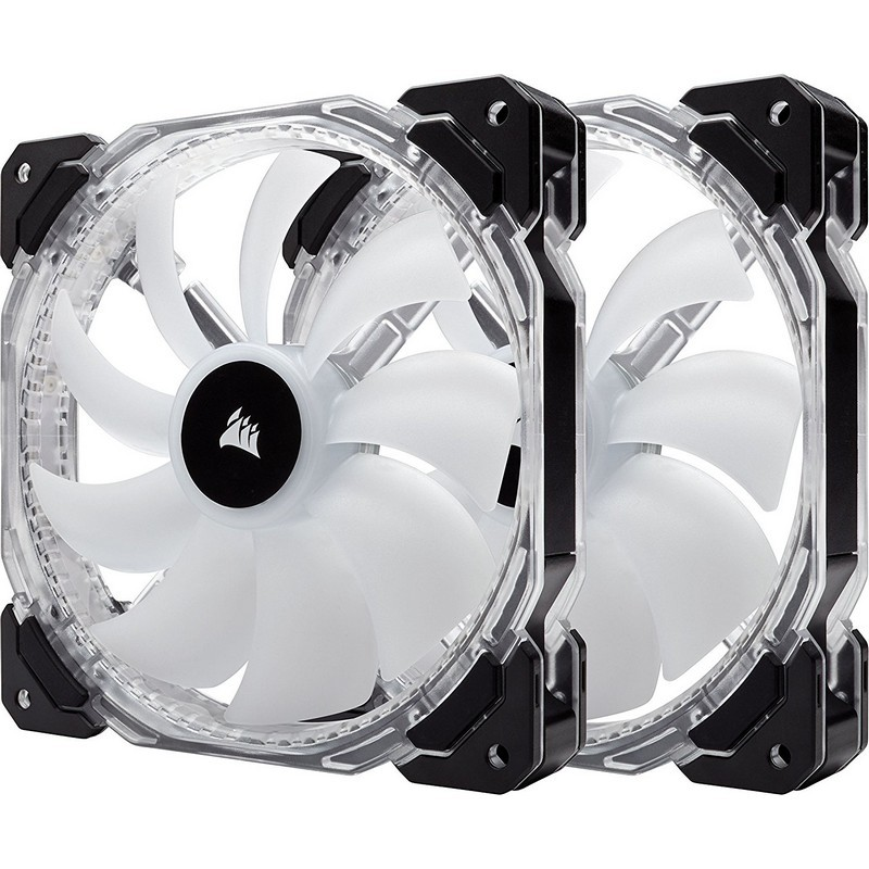 Ventilador PC Corsair HD140 RGB LED 140mm x2 Con Controlador