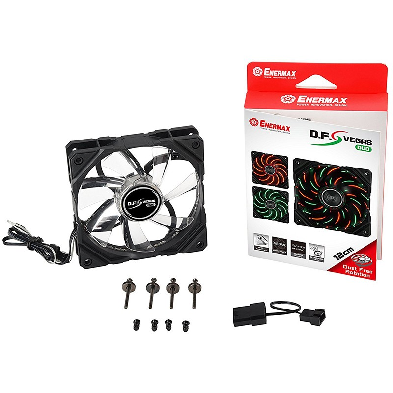 Ventilador PC Enermax D.F.Vegas Duo 120mm LED Rojo/Verde