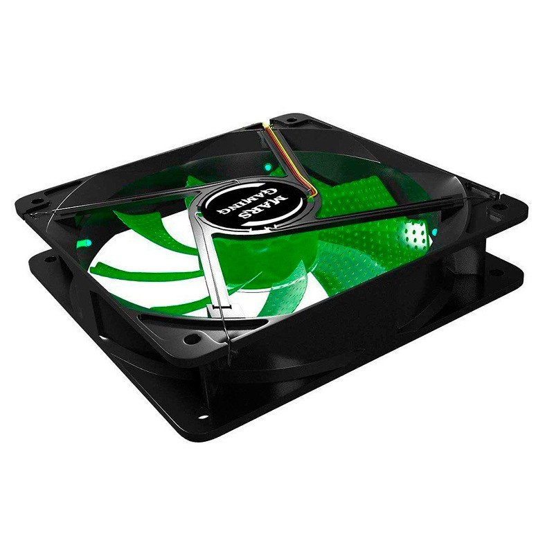 Ventilador PC Tacens Mars Gaming MF12G 12cm LED Verde