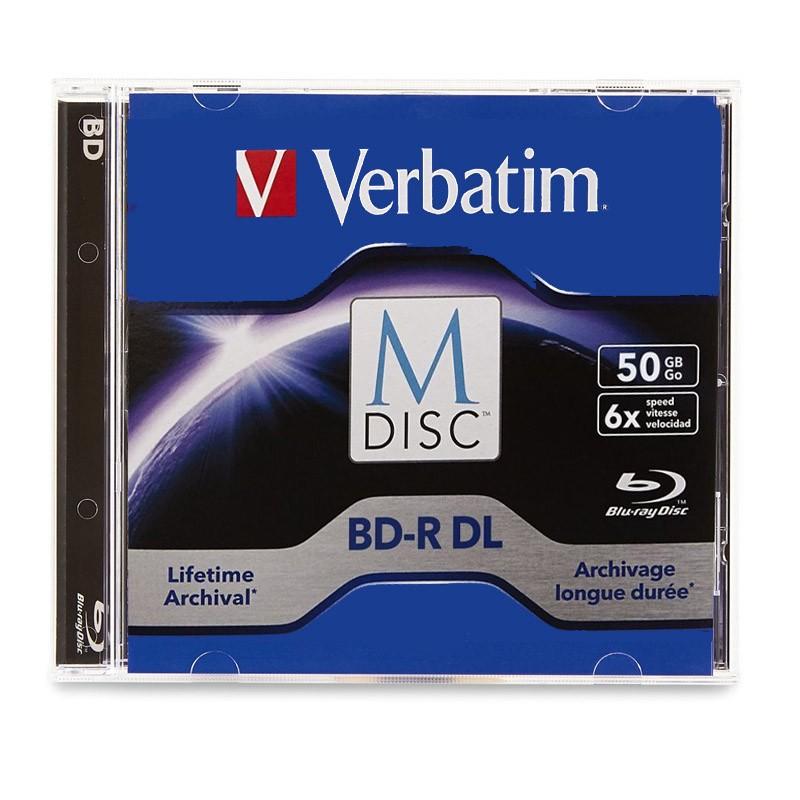M-Disc BD-R DL 50GB 6x Verbatim Caja Jewel 1 uds