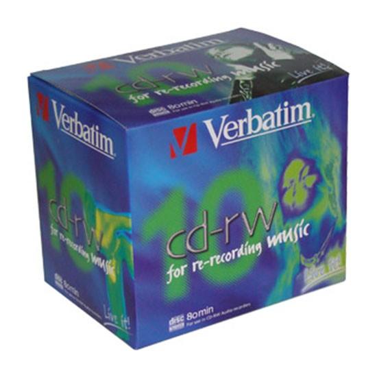 CD-RW Audio Verbatim 80 min 'Music Life' Caja Jewel 1 ud
