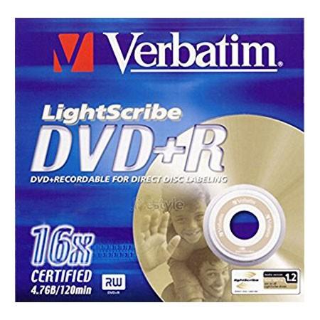 DVD+R 16x Verbatim Lightscribe Caja Jewel 1 uds