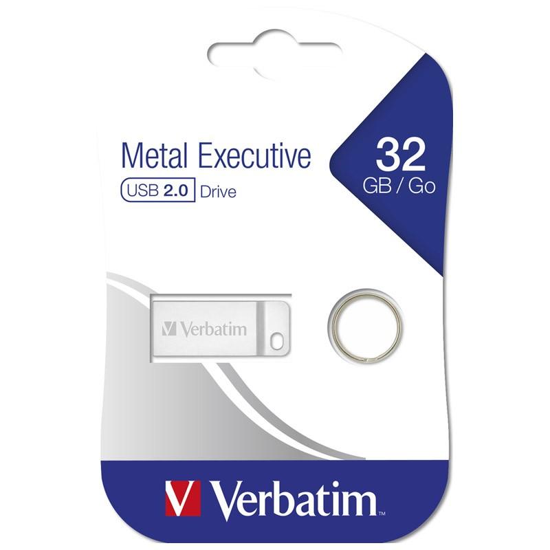 Pendrive 32GB Verbatim Metal Executive Plata