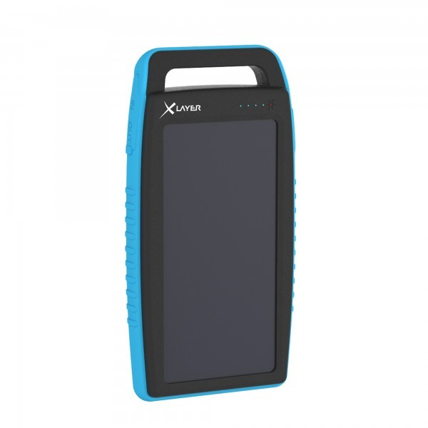 PowerBank XLayer PLUS Solar Black/Blue 15000mAh