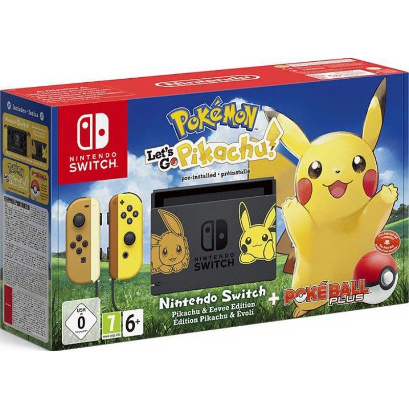 Nintendo Switch Pokemon + Let's Go Pikachu (Preinstalado) + Poké Ball Plus