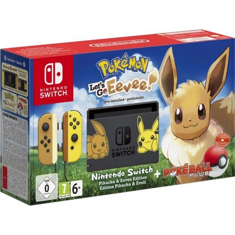 Nintendo Switch Pokemon + Let's Go Eevee (Preinstalado) + Poké Ball Plus