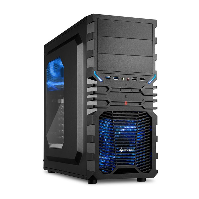 Caja PC ATX Sharkoon VG4-W Negro