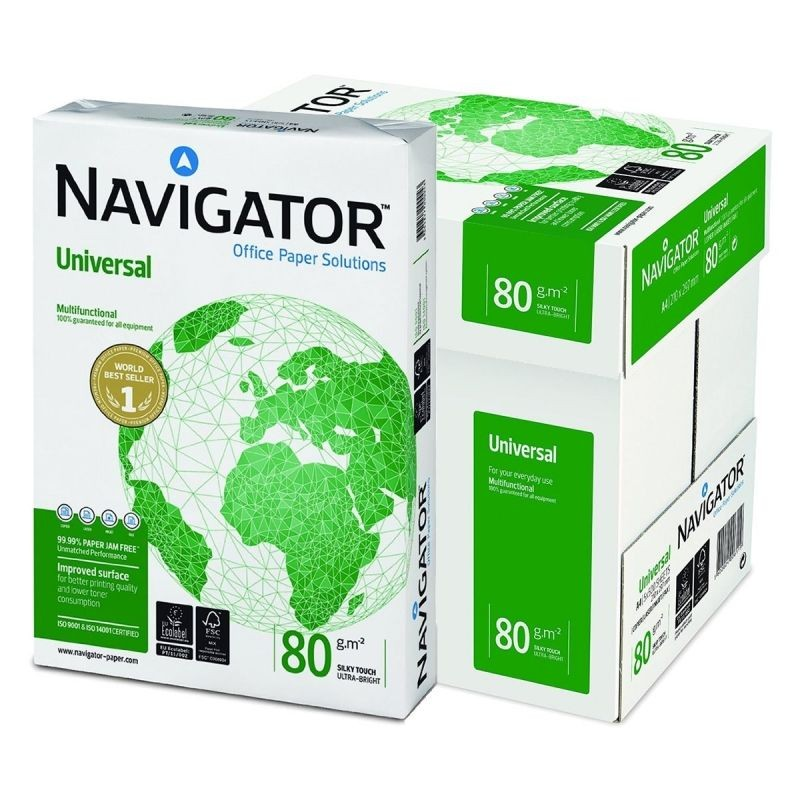 Pack Papel Blanco Navigator Universal DIN-A4 80g pack 500 pcs - 5 Unidades