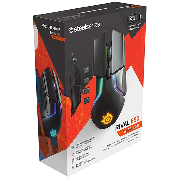 Ratón Inalámbrico SteelSeries Rival 650 Wireless